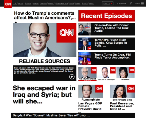 CNN podcast page
